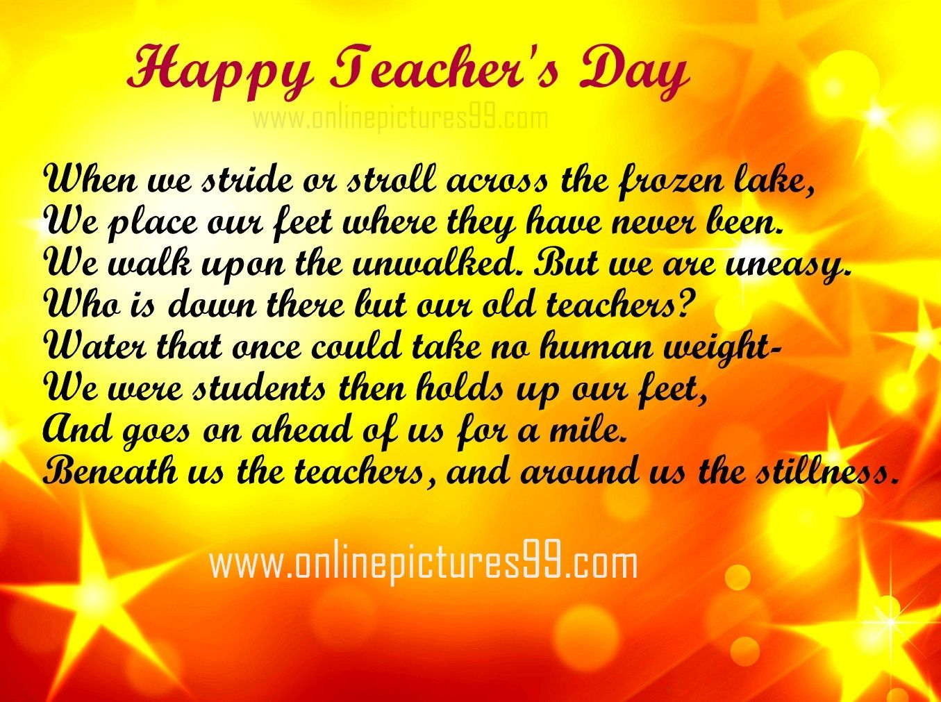 Teachers Day Poems In English Short Poetry Images Pictures And