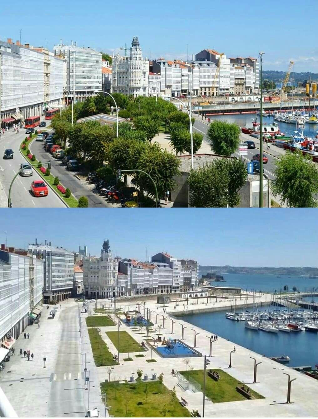Antes Y Después La Marina A Coruña Torre De Hercules Viajes