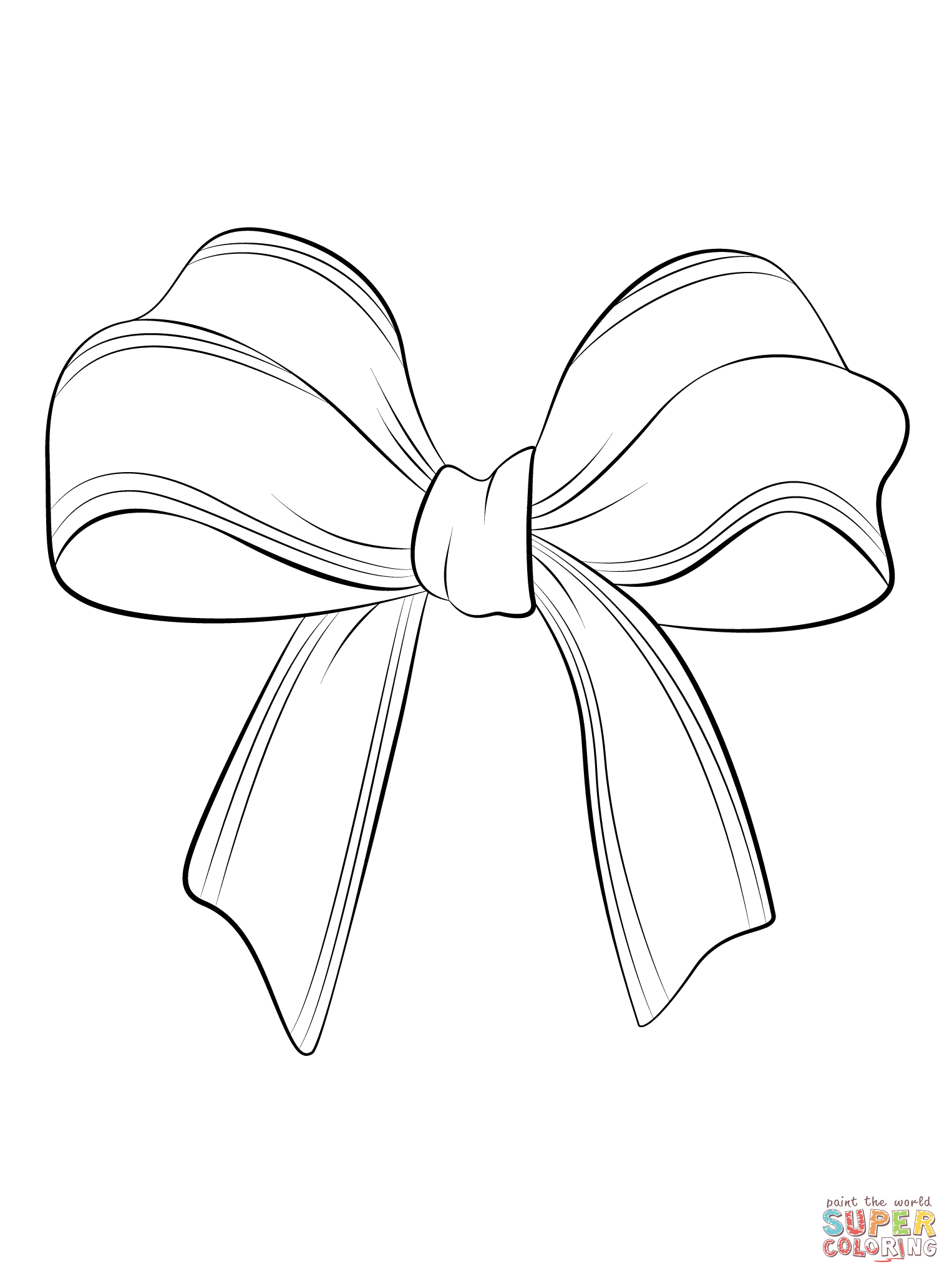 Christmas Bow Coloring Page Free Printable Coloring Pages Printable Coloring Pages Bow Drawing Free Printable Coloring Pages