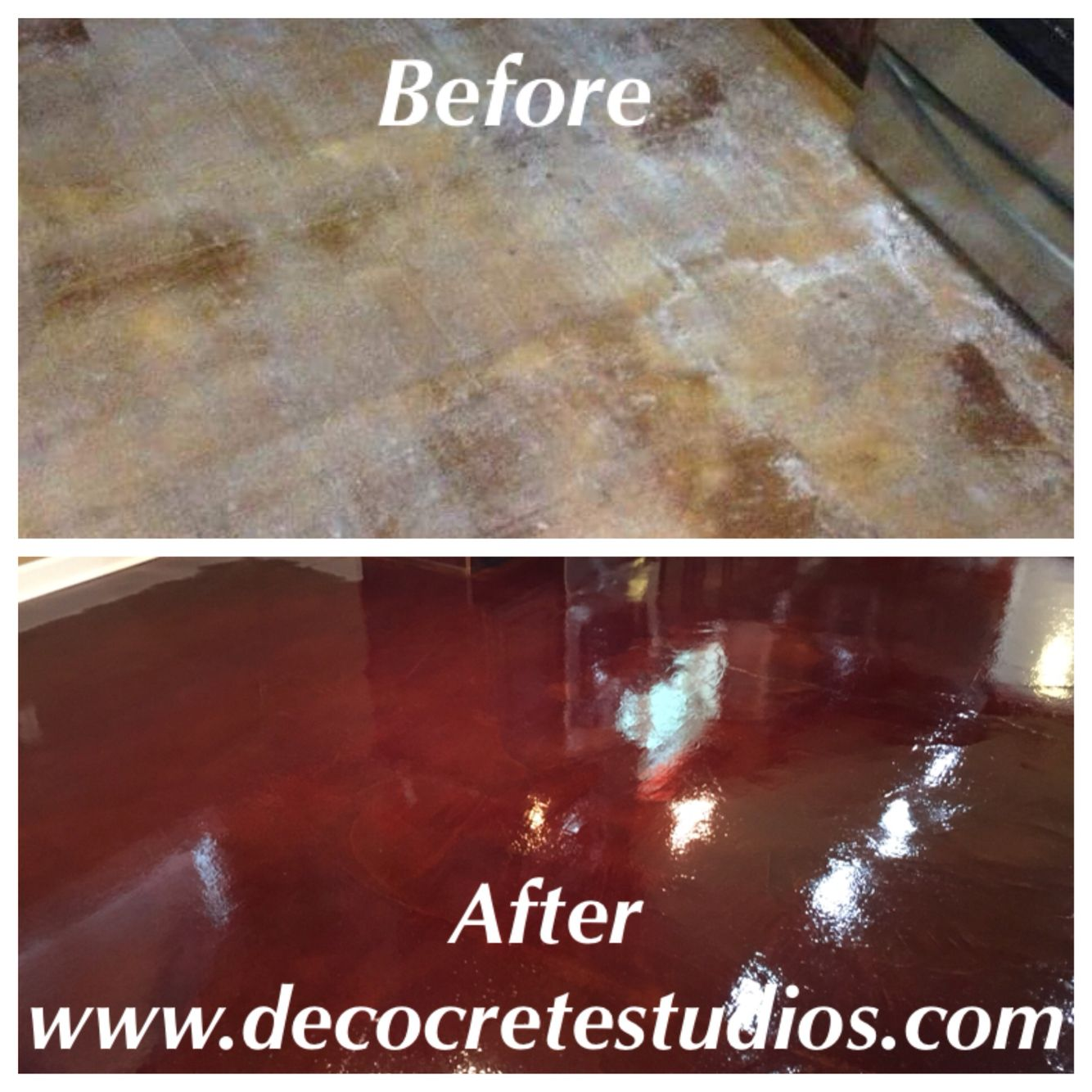 Stained Concrete Repairs Decorative Acid Stain Floors New Orleans