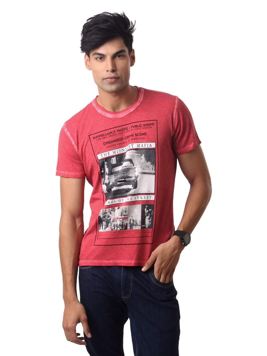 Design your t shirt myntra - United Colors Of Benetton Men Red T Shirt Myntra