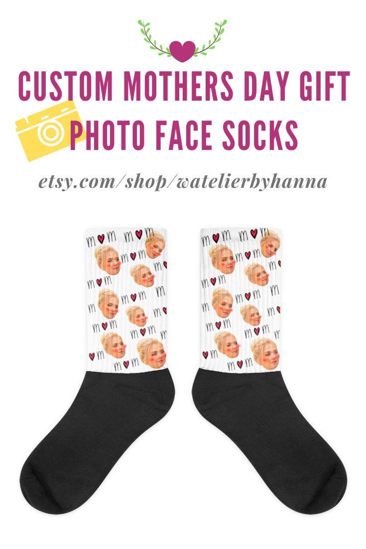Custom socks for mother mom grandma personalized photo
