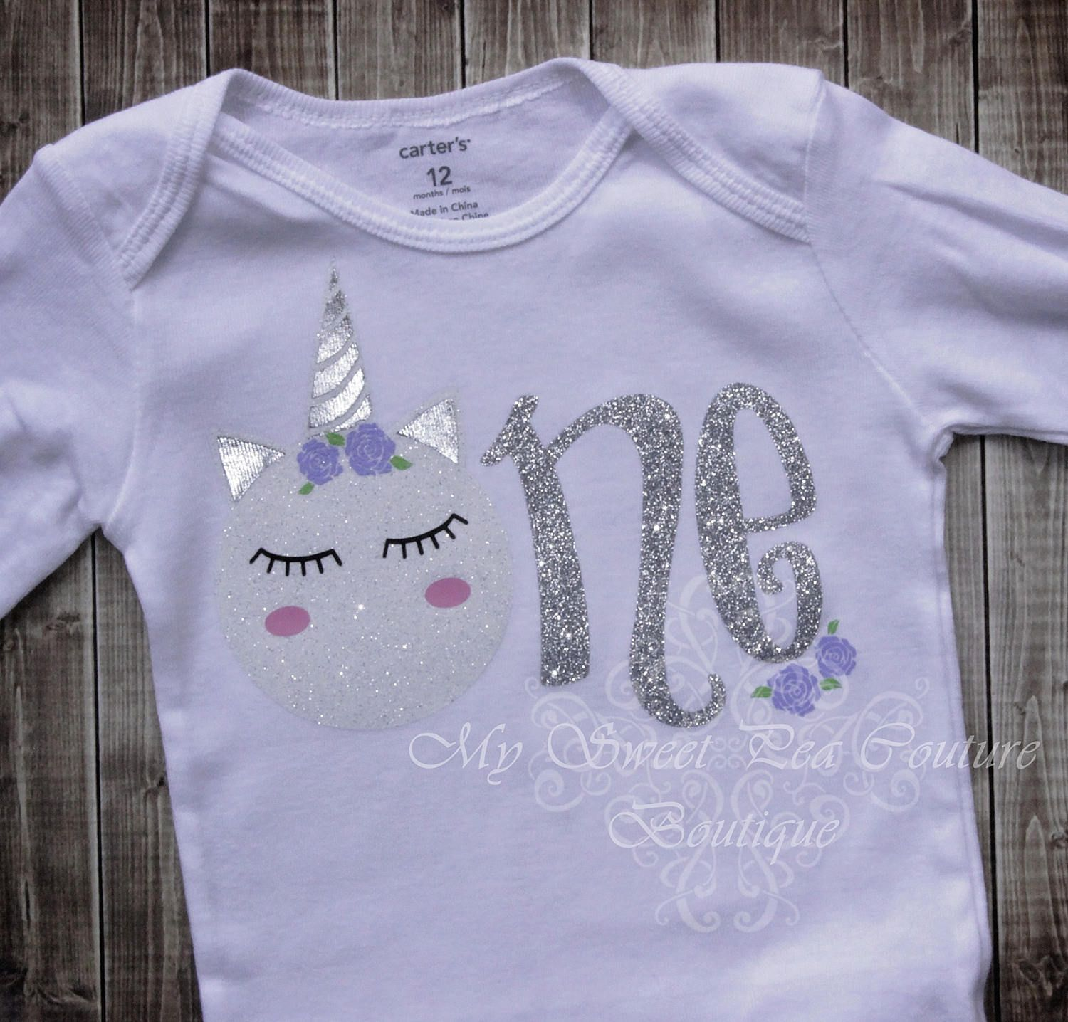 73d34a4ef2c Unicorn First Birthday Onesie- Unicorn Birthday- Personalized- First  Birthday Outfit- 1st Birthday- Wimsical Birthday- One Oneise- Prop by  MySweetPeaCouture ...