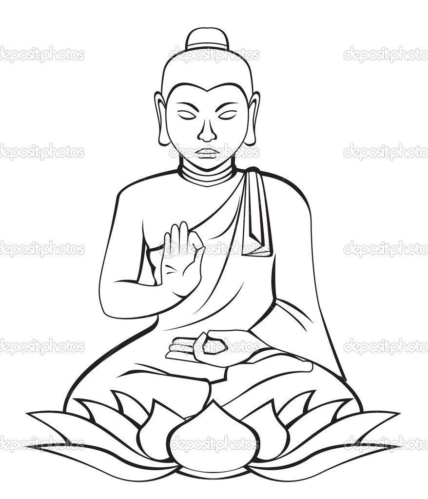 buddha clip art drawings  bouddha dessin bouddha bouda