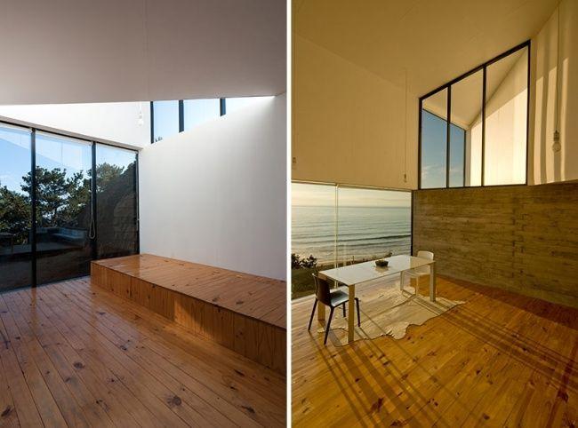 Asymmetrisches Haus Innendesign Holzbeläge Ideas