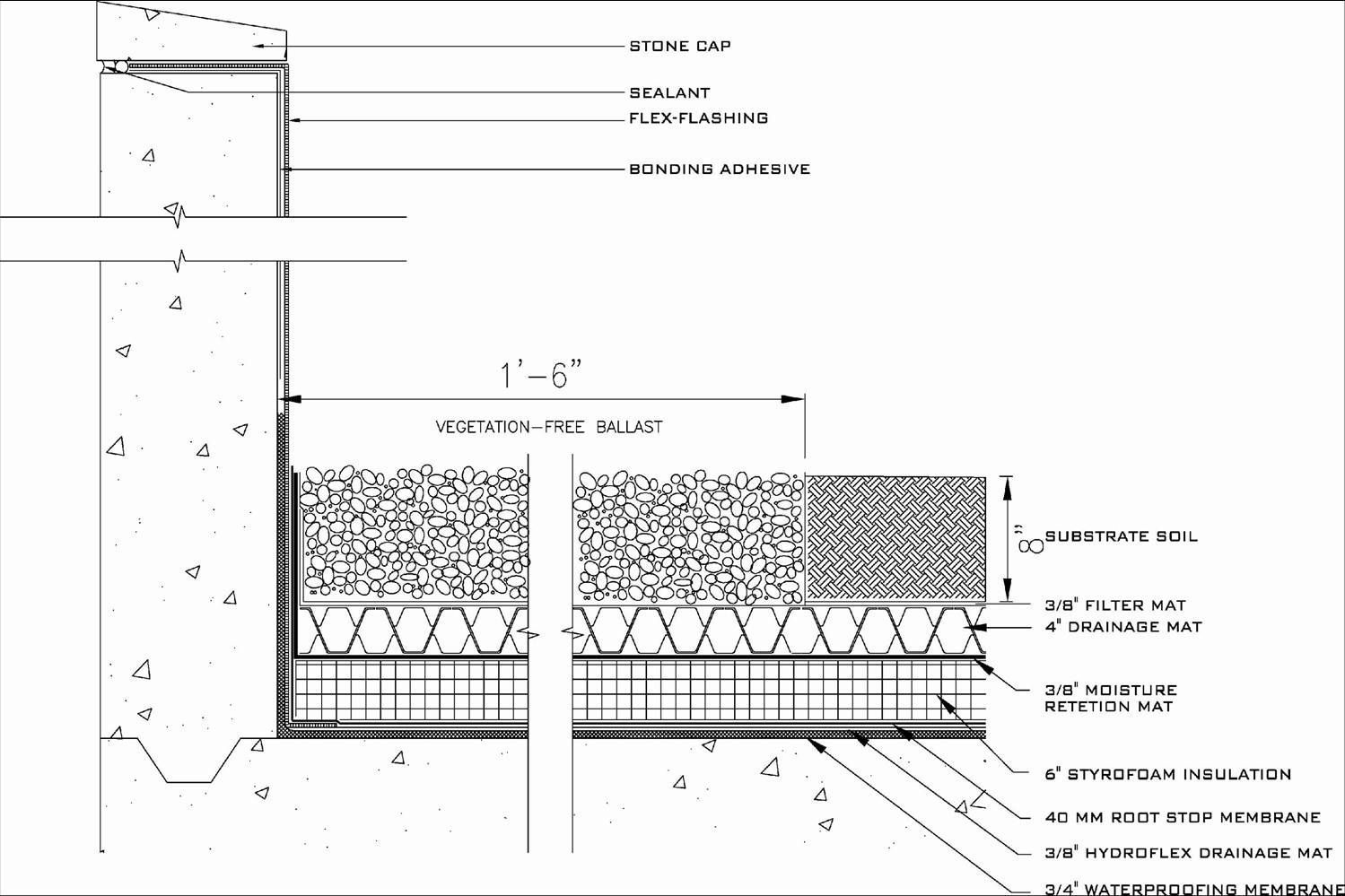 Architecture Roof Garden Section