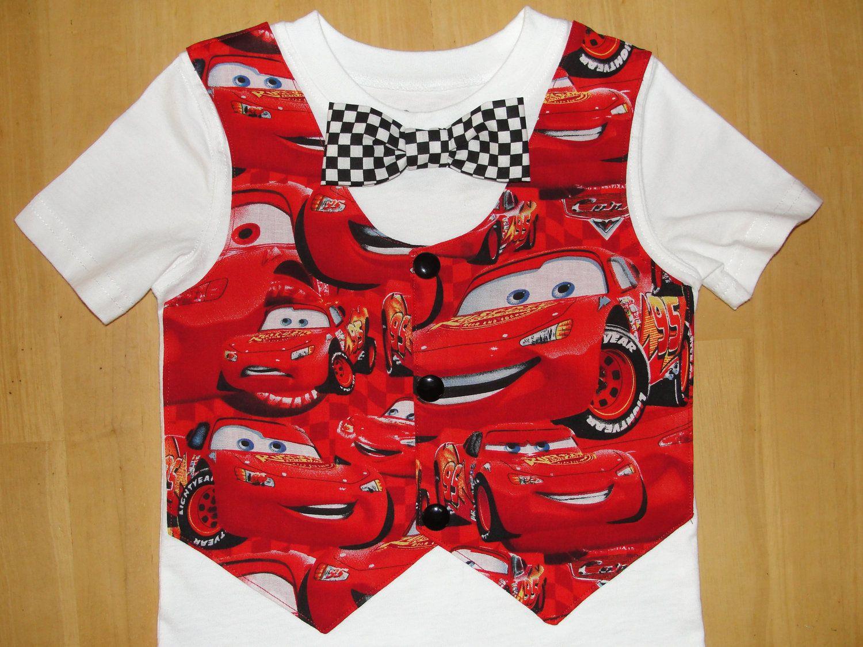 Disney Cars Bow Tie Tuxedo Vest T Shirt Outfit Disney ...