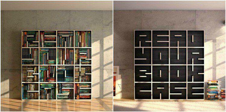 Langweilige Bücherschränke oder Bretter mit Büchern? Nicht mit ...