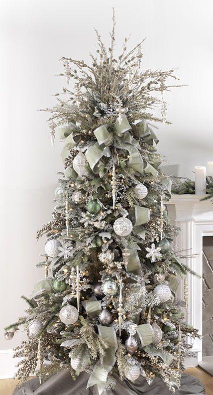 21 Silver Christmas Tree Decor Ideas Elegant Christmas Tree Decorations White Christmas Tree Decorations Elegant Christmas Trees