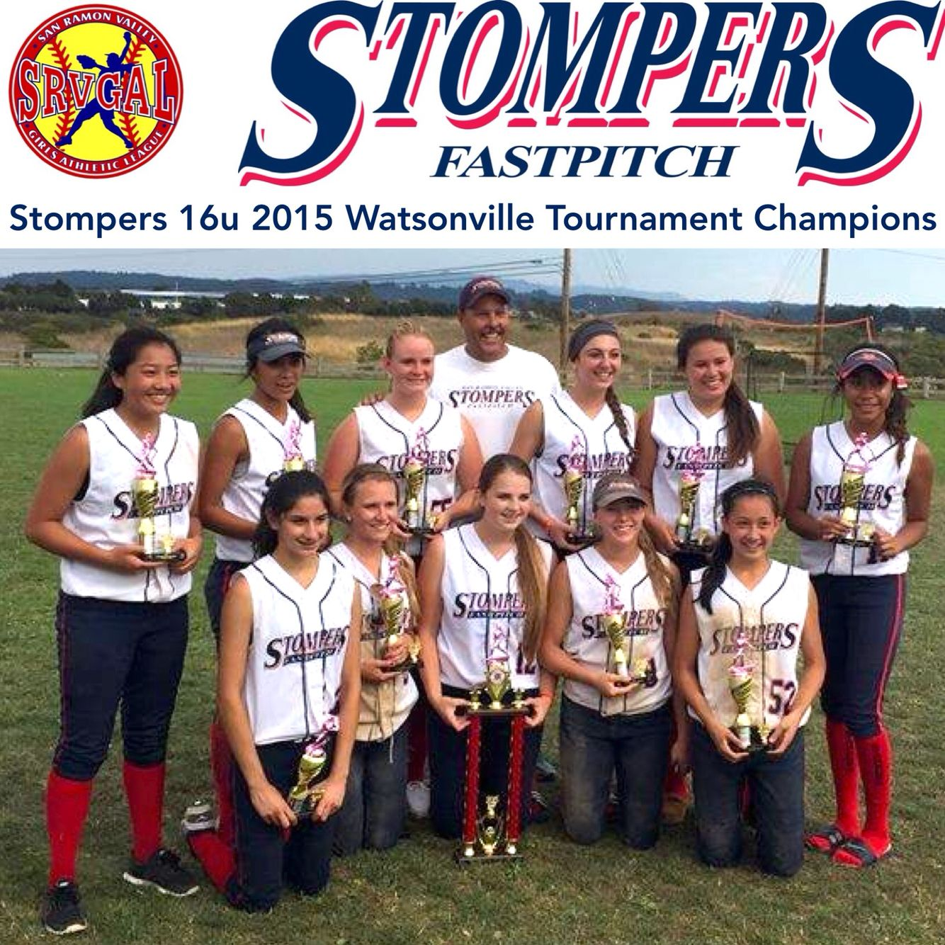 Stompers 16u 2015 Watsonville Tournament Champions With Images Fastpitch Champion Tournaments