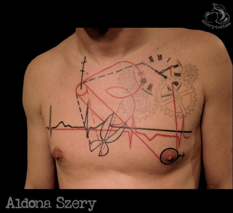 Silo Tattoos Incredible Body Art Masterpieces That Look: Amazing Art Trash Tattoo By Aldona Szery