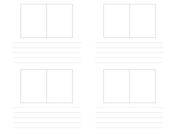 Vertical Storyboard Film Storyboard Template Vertical X Stock Photo