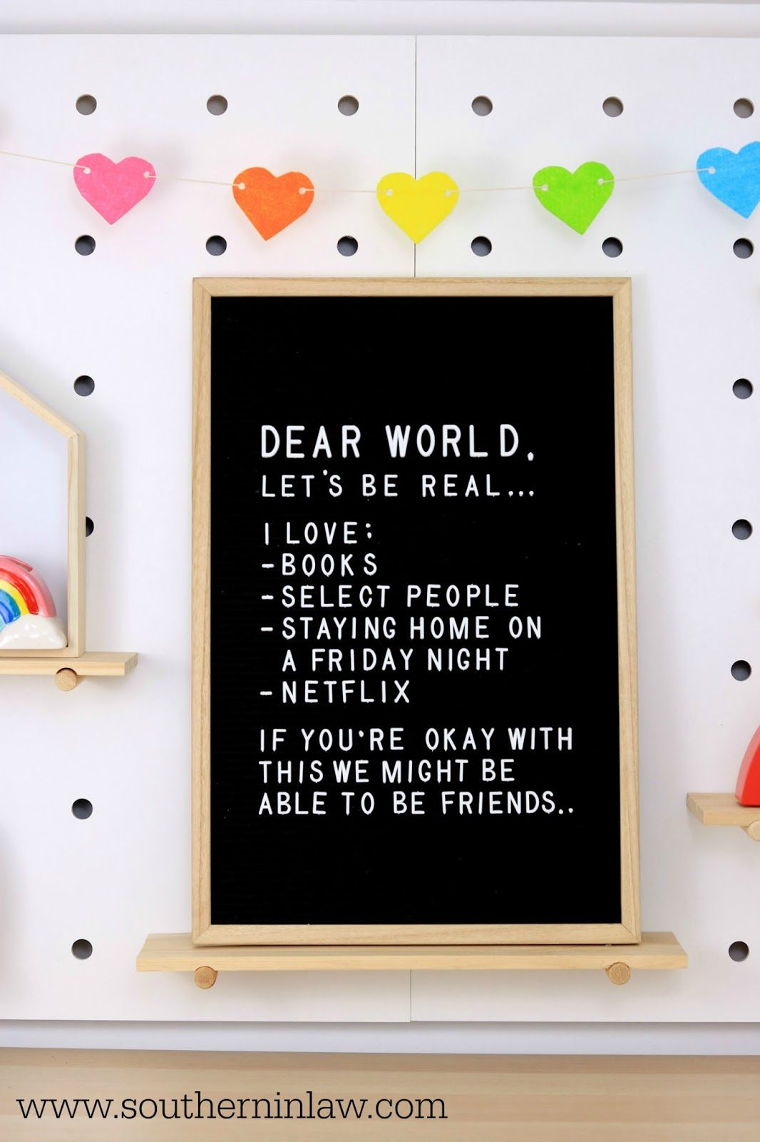 April Styling Adding Colour And Personality With A Rainbow Theme Friday Quotes Funny Dear World Funny Quotes About Life