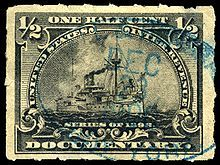 Postage stamp separation - Wikipedia, the free encyclopedia. A rouletted United States revenue stamp of 1898.