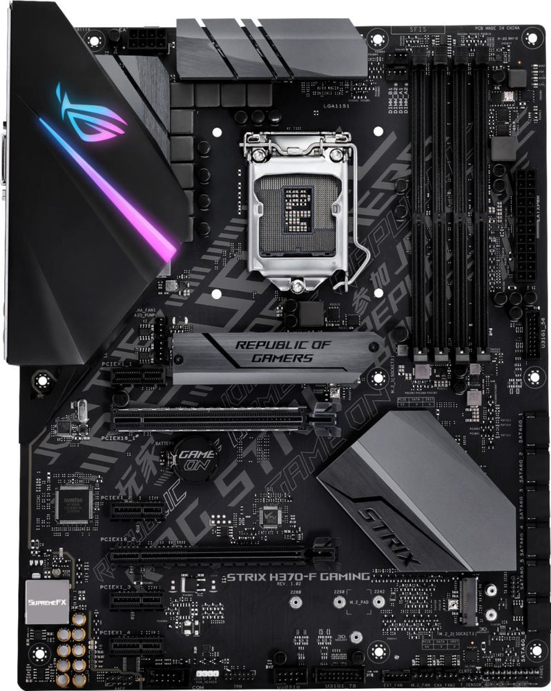 ASUS - ROG STRIX H370-F GAMING (Socket LGA1151) USB 3 1 Gen 1 Intel