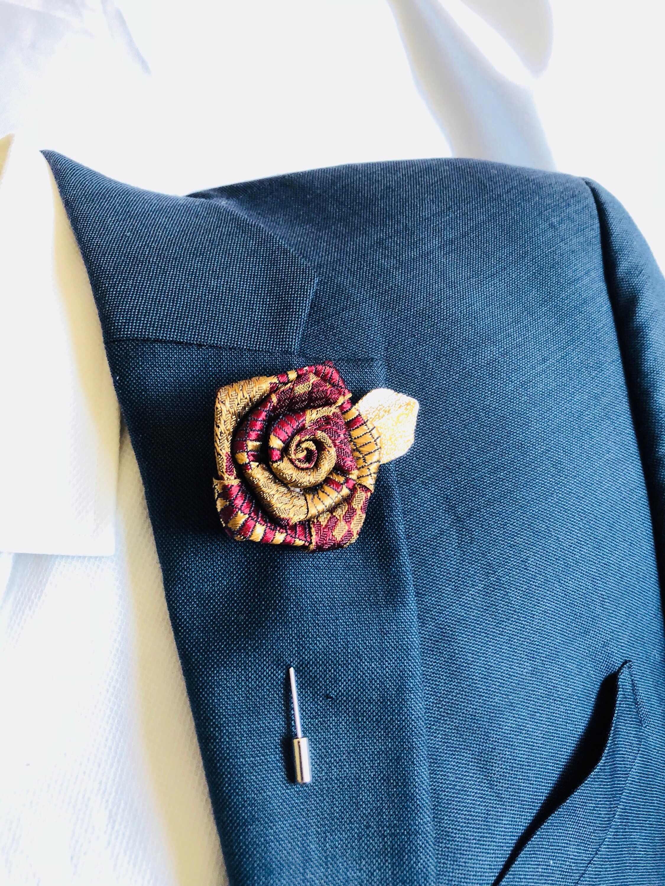 Rose Flower Lapel Pin, Wedding Favors Accessories Brooches