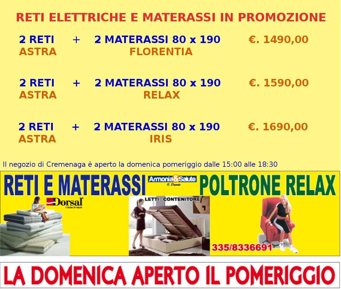 Promozioni reti elettriche e materassi della Ditta DINARDO **le promozioni sono valide sino ad esaurimento delle scorte