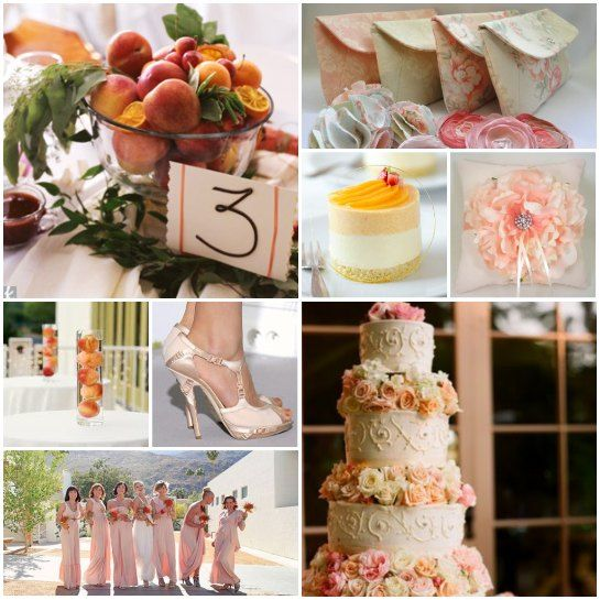 Image Detail For   Peaches And Cream Ivory Champagne Pink Rose Peach Wedding  Decor 22 .