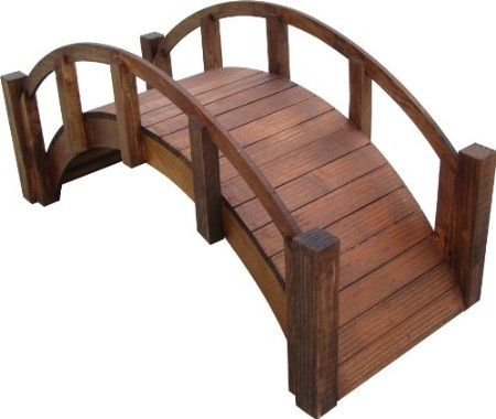 Decorative Anese Wood Garden Bridge With Arched Railings 30 1 2 Long X