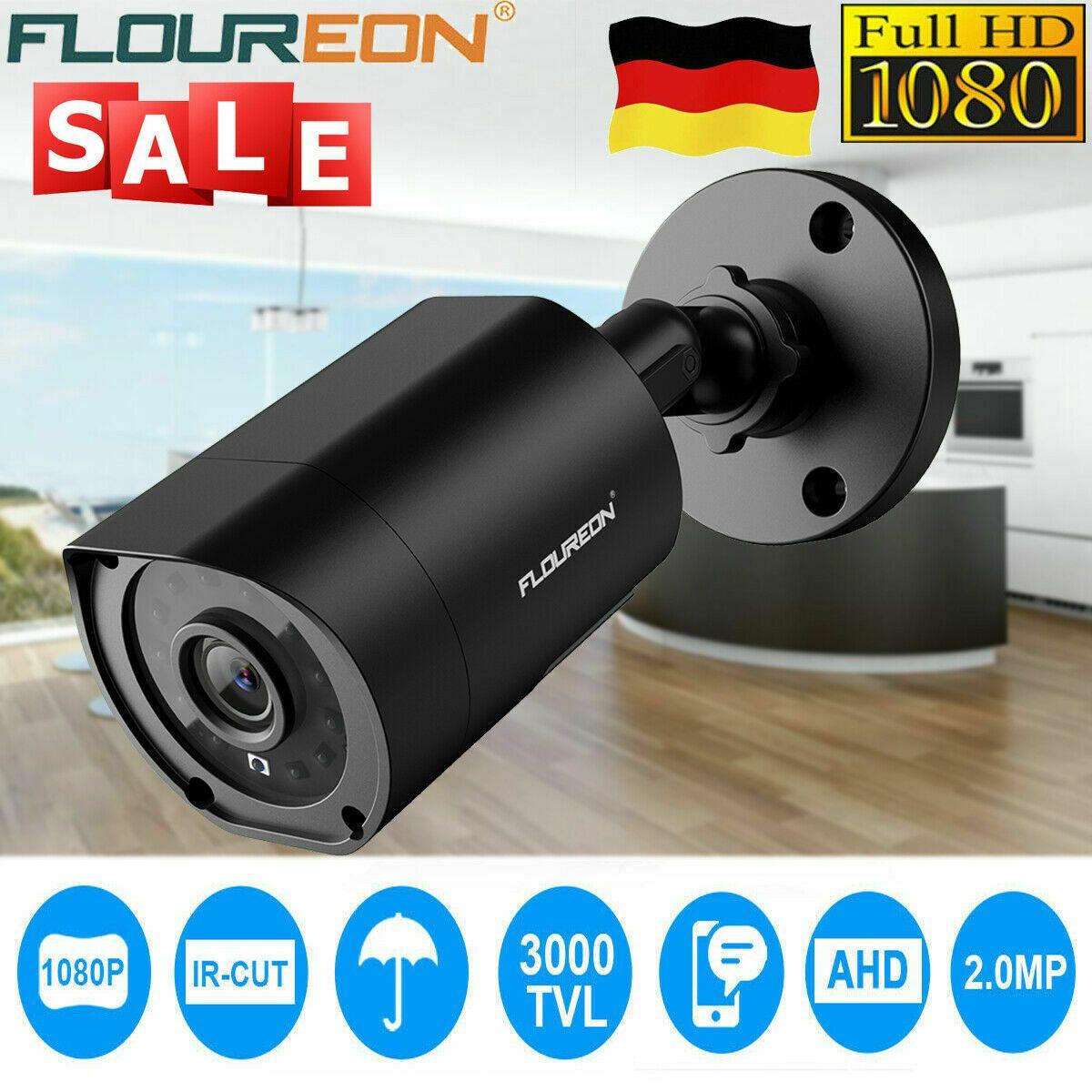 FLOUREON 3000TVL 1080P AHD CCTV DVR Kamera Überwachungskamera Wasserdicht