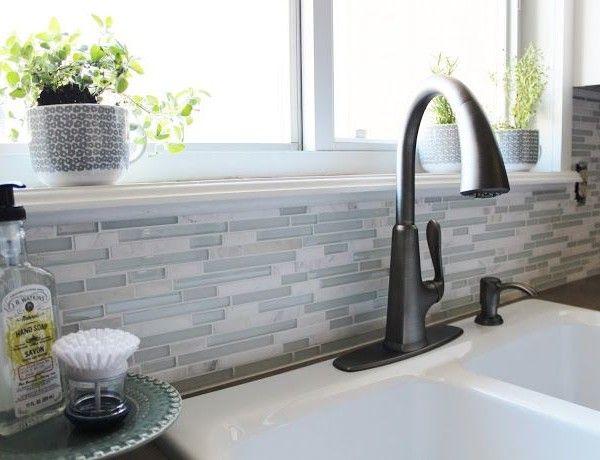 Grau und weiß Küche Makeover-Wasserhahn küche | Interieur Design ...