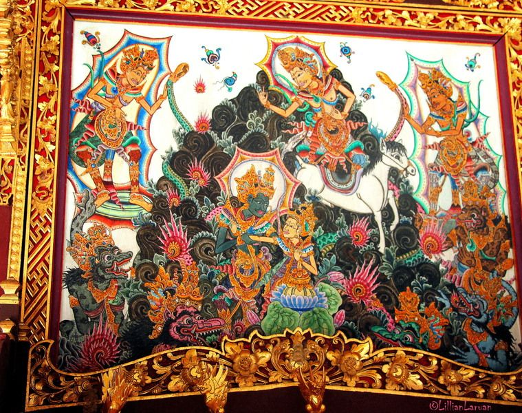 an interesting painting depicting important Hindu epics