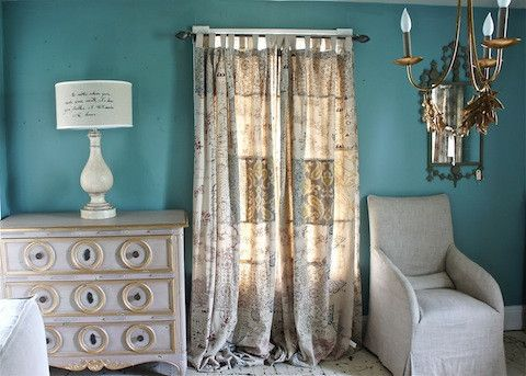 Patchwork Curtain-thinking I could make something similar to these...