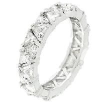 Jewelry/Rings - Trillion Cut Eternity Band  In stock/free ship/no fee