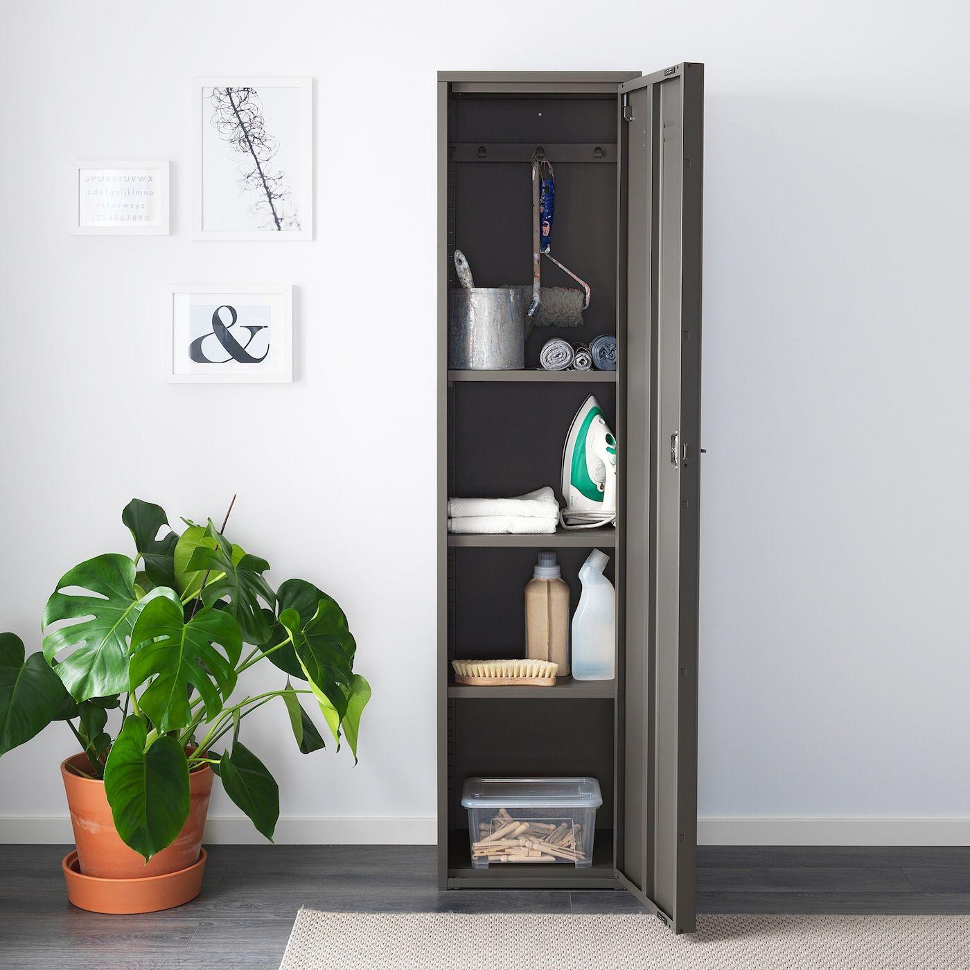 Ivar Grey Cabinet With Door Ikea In 2020 Ivar Schrank Schrankturen Lagerschranke