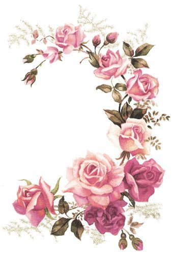 Attractive XL PinK TeA RoSe CoRNeR SWaGs ShaBby WaTerSLiDe DeCALs ~FuRNiTuRe SiZe~