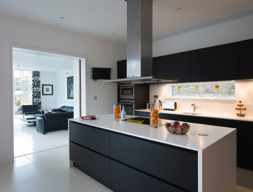Zdjecie Nr 11 W Galerii Bialo Czarna Kuchnia Inspiracje Kitchen Design Luxury Kitchen Decor White Modern Kitchen