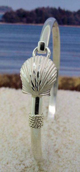 Sterling Silver Scallop Shell Bracelet