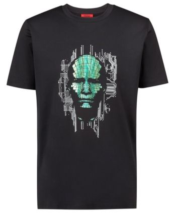 875a1e6eb7 Hugo Men's Donductor Graphic T-Shirt - Black L in 2019   Products ...