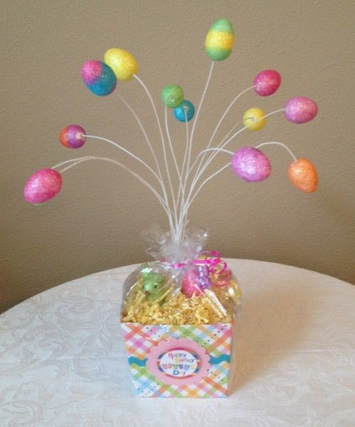 Help Support Handmade and Home Run Businesses!  More Easter decor, basket fillers and magnets for sale in my shop! Stop on by!  Super Cute Easter Home Decor Accent Piece! Large Easter egg tree!  Pleas