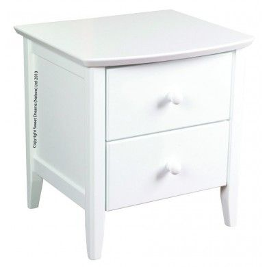 Classically Styled With Two Useful Drawers This White Bedside