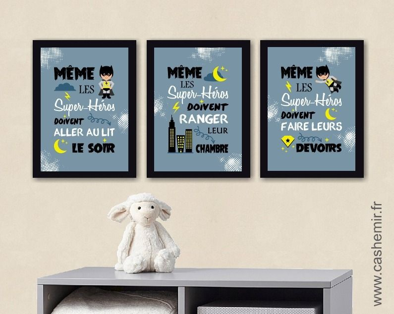 affiche ducative chambre enfant d coration murale pour chambre d 39 enfant gar on poster. Black Bedroom Furniture Sets. Home Design Ideas