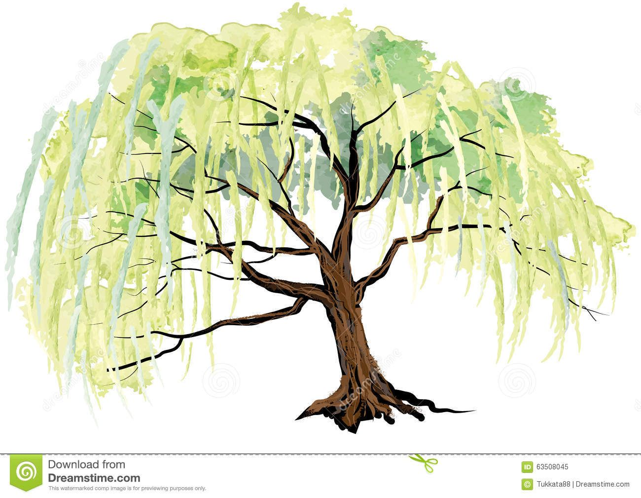 Willow Tree Landscape Design Clipart