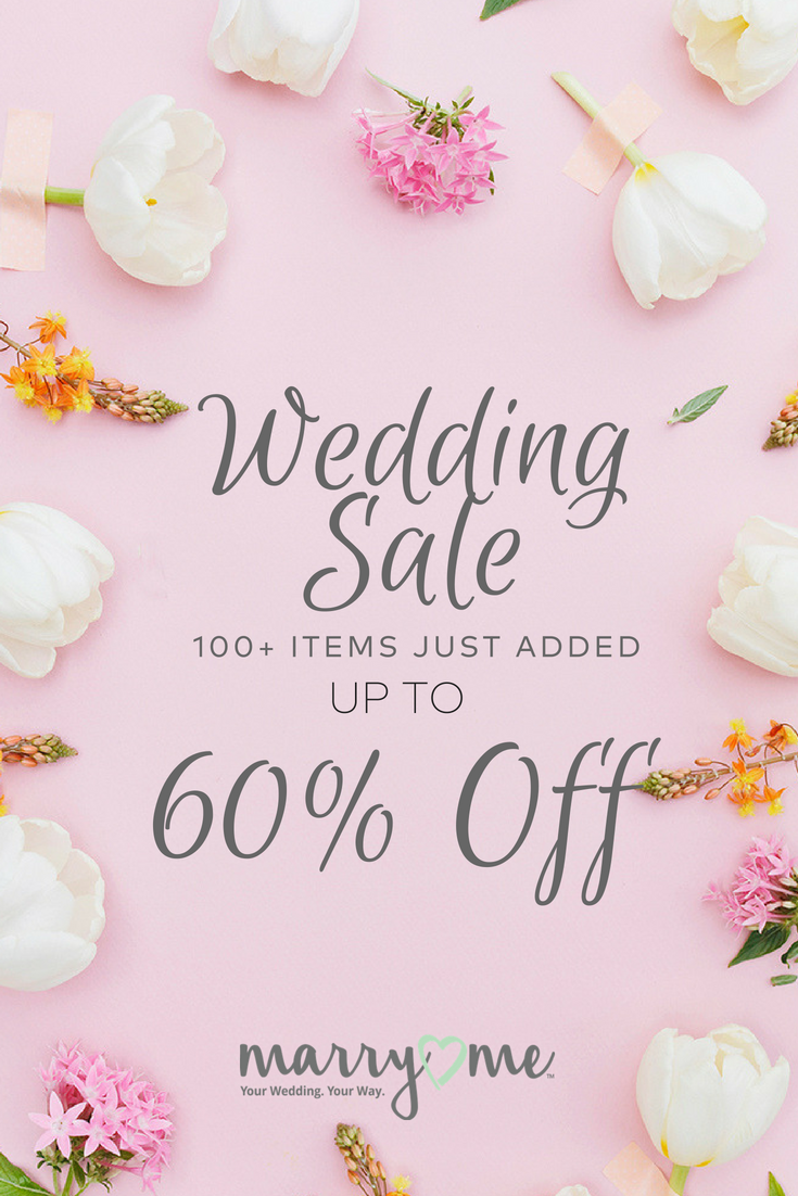 We Re Having A Sale Find Wedding Supplies With Free Shipping Offers At Marry Me By Oriental Trad Discount Wedding Supplies Diy Wedding Favors Wedding Supplies