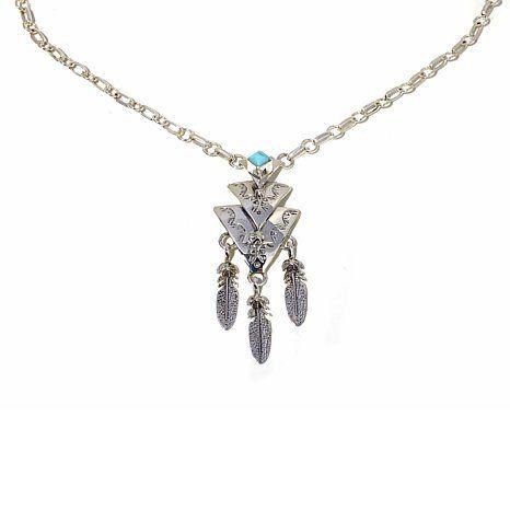 "Chaco Canyon Southwest Turquoise ""Arrowhead"" Necklace"