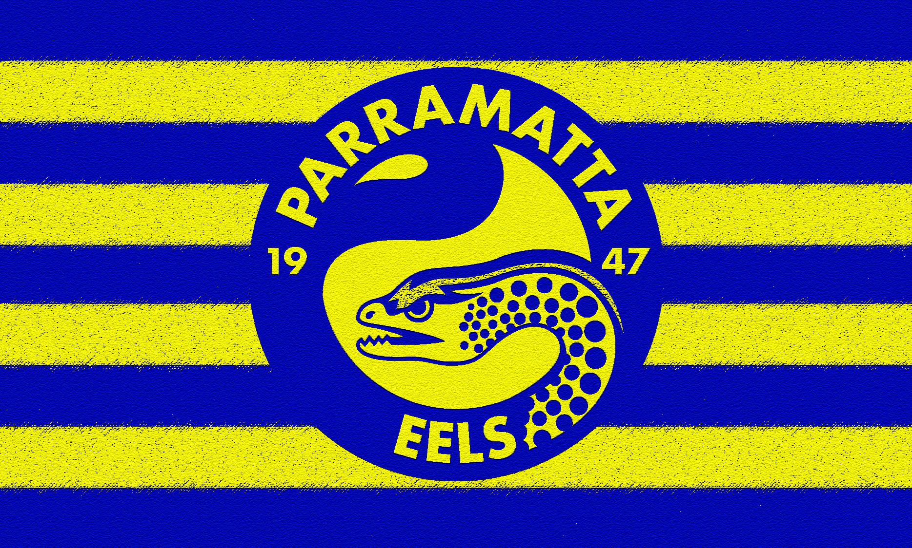 Parramatta Eels Striped Wallpaper By Sunnyboiiii Blue Yellow Football Team Logos National Rugby League Sports Team Logos