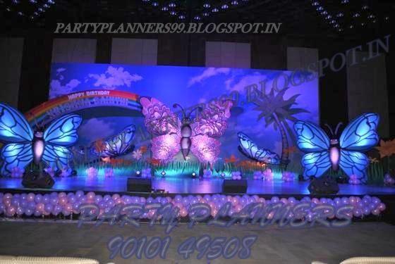 Birthday party organizers balloon decorations birthday for 1st birthday stage decoration hyderabad
