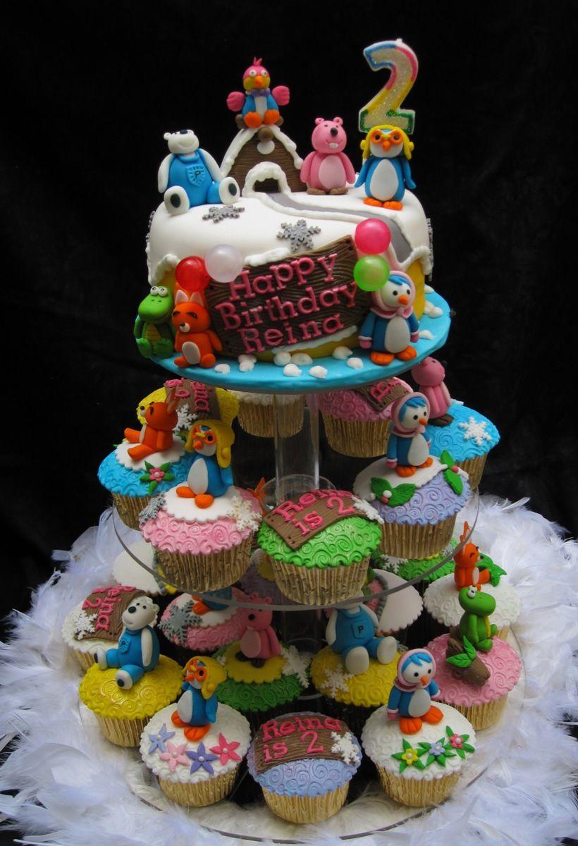 Cute Girl Birthday Cakes Pororo Cupcakes On Tier Just