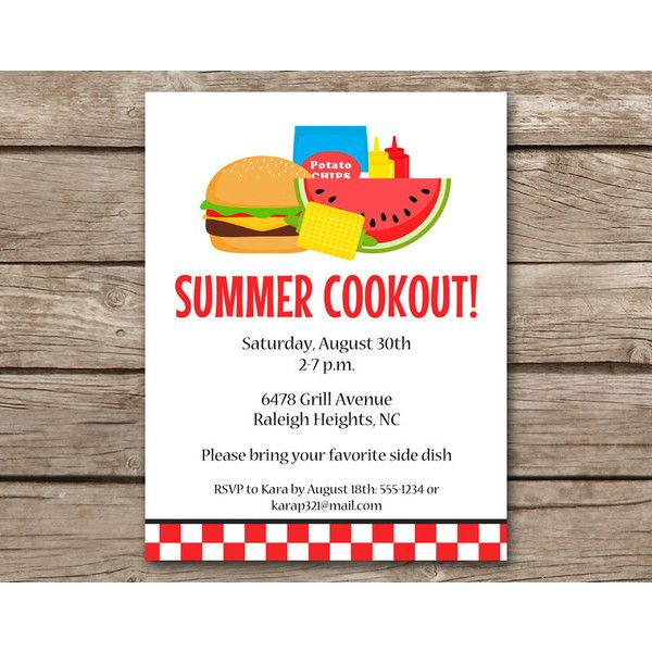 printable summer bbq invitation bbq invitation cookout invitation