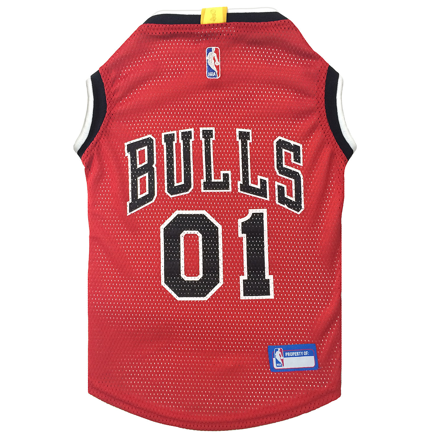 Pets First Chicago Bulls NBA Mesh Jersey for Dogs, XSmall