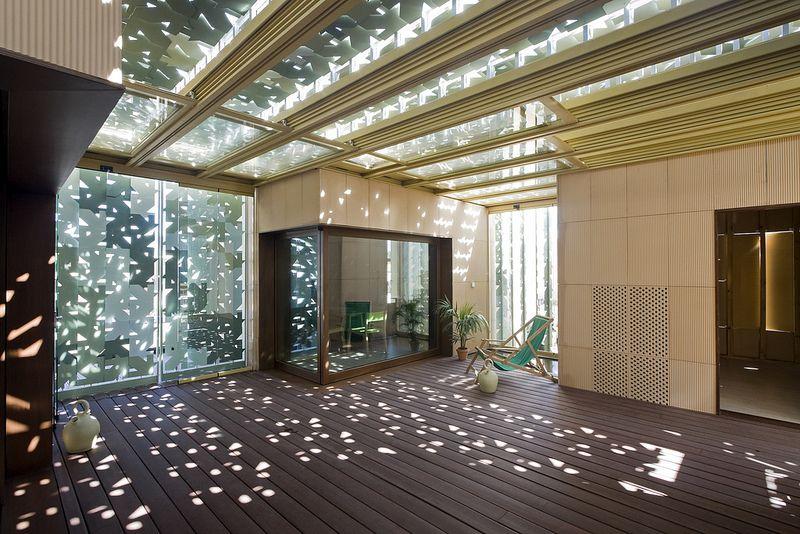 casas interior cubiertas luces arquitectos juego patios patio trasero bureau