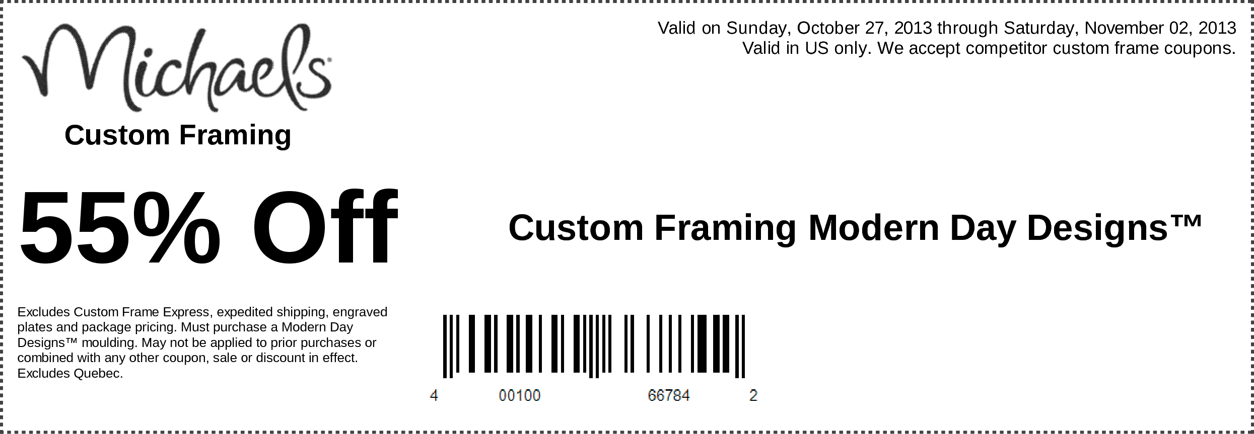 michaels off custom framing designs printable coupon - Michaels Frame Sale