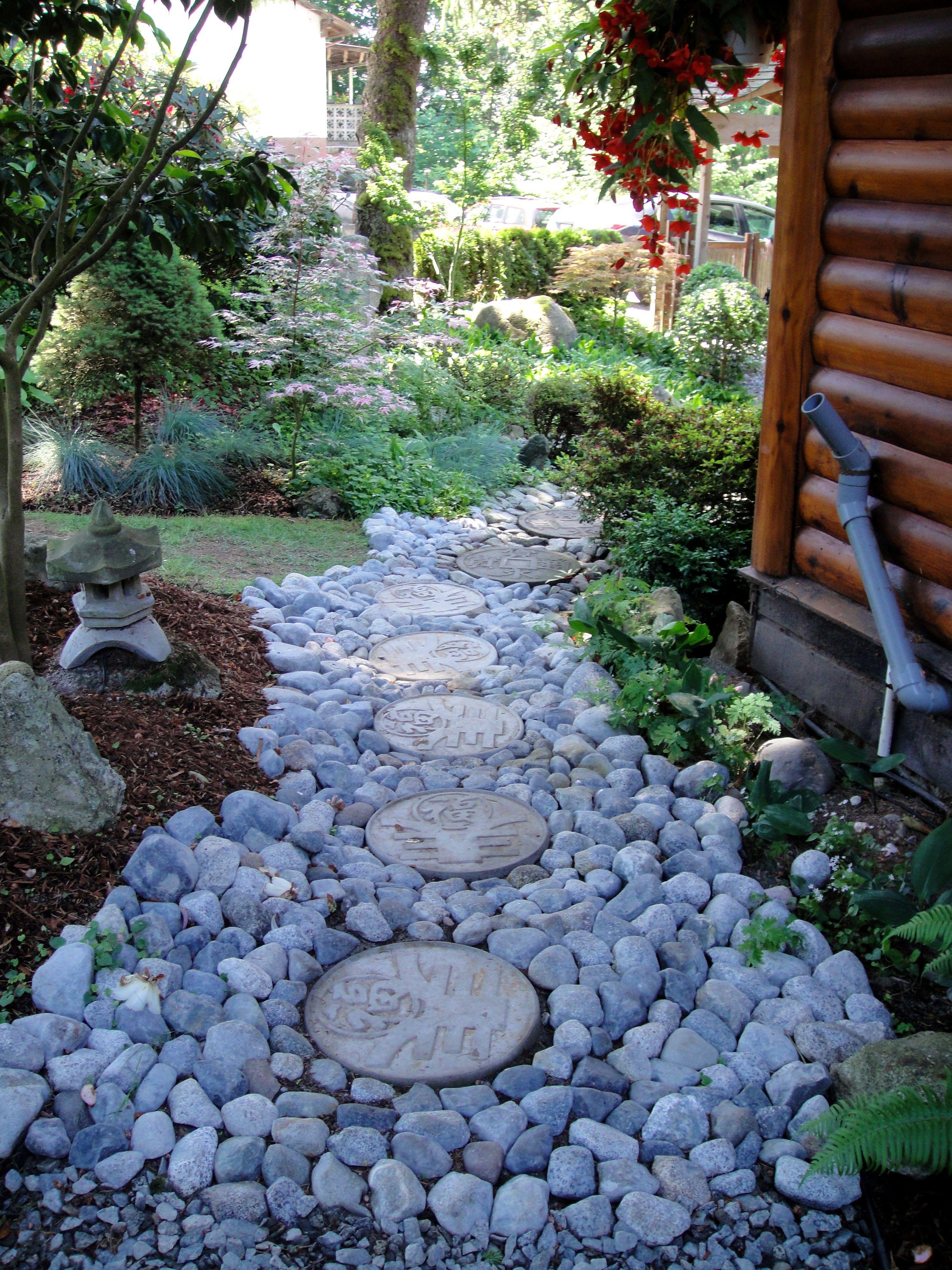 magical river rock walkway pathways pinterest rock
