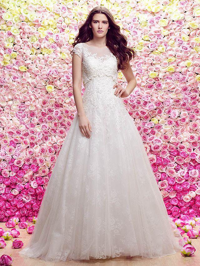 Lanting Bride® Corte en A / Princesa Tallas pequeñas Vestido de Boda ...