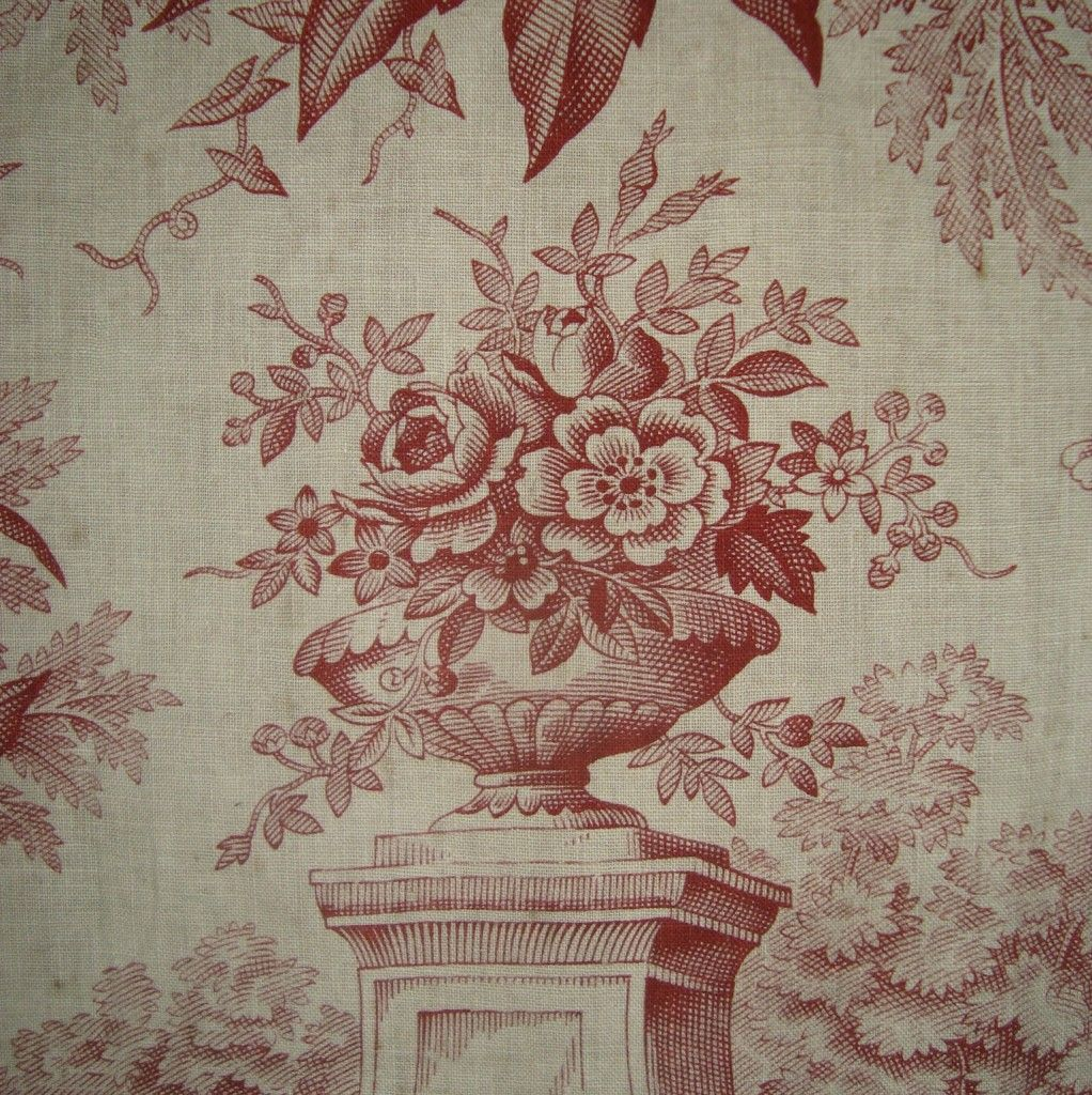 antique french toile Fabric wallpaper, French vintage