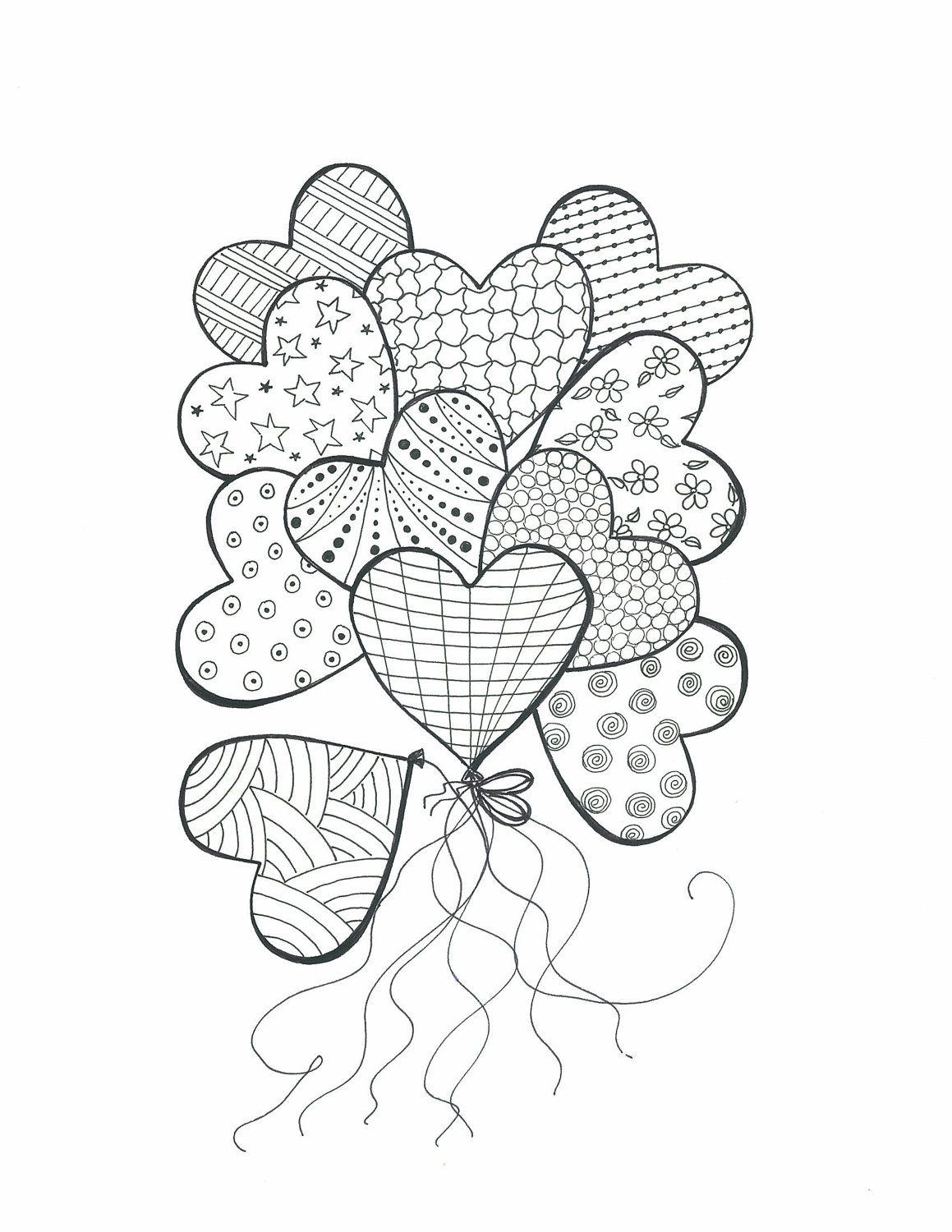 Pin By Gulsah Tastekin On Heart Art Heart Coloring Pages Heart Doodle Coloring Pages